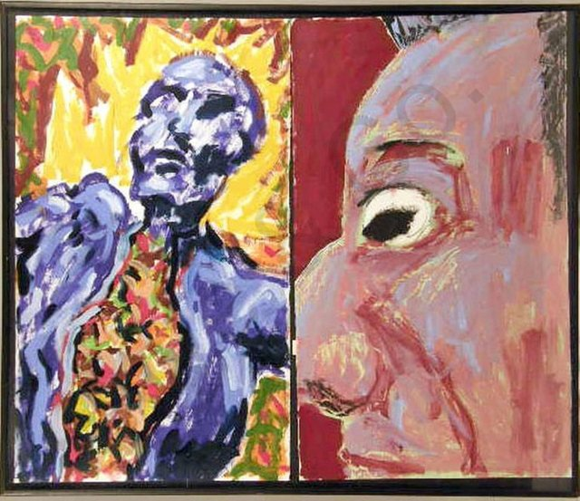 Peter Julian, 'UNTITLED, 1981 DIPTYCH Neo Expressionist Figures', 1980-1989, Lions Gallery