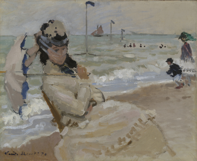 , 'Camille on the Beach in Trouville,,' 1870, Legion of Honor