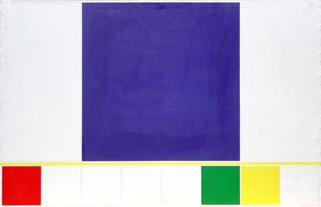 , 'Proposición del rojo al naranja, cuadrado violeta,' 1985, Henrique Faria Fine Art