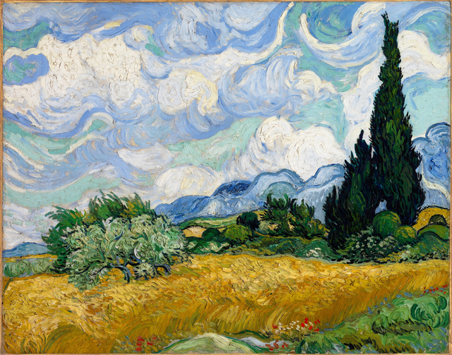 Vincent van Gogh, 'A Wheatfield, with Cypresses', 1889, The National Gallery, London