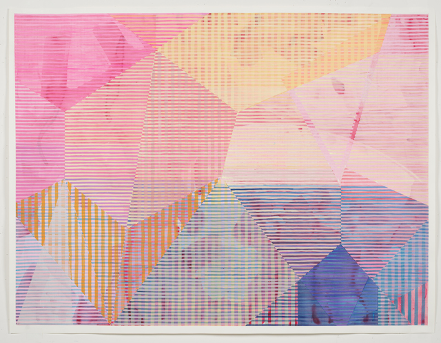 Melissa Casey, 'Yellow, Pink and Blue over Quinacridone', 2019, Kopeikin Gallery