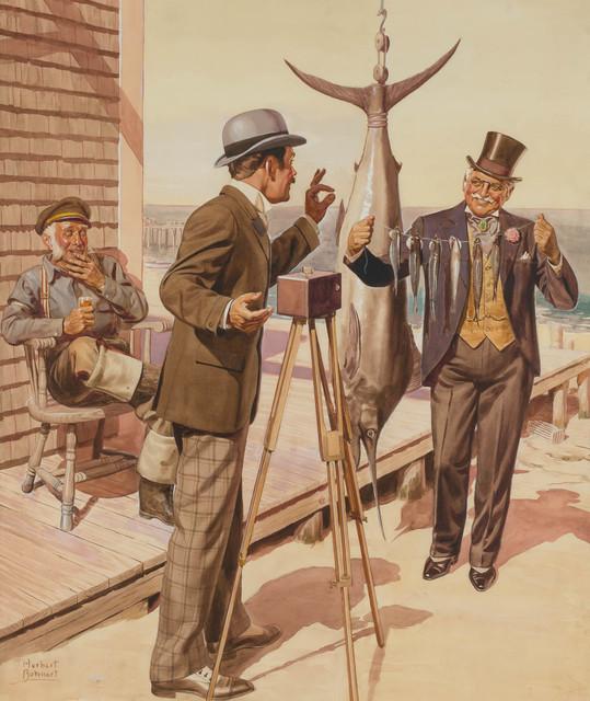 Herbert Bohnert, 'Untitled Illustration for Kinsey Blended Whiskey (Gentleman Fisher),', 1940s, Doyle