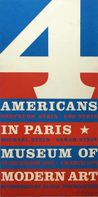 Robert Indiana, '4 Americans in Paris, The Collections of Gertrude Stein and her Family (Hand Signed)', 1970, Alpha 137 Gallery