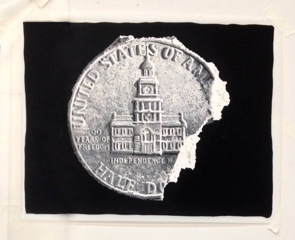 , 'Study of The Eroded Half Dollar Back,' 2013, Galerie Ron Mandos
