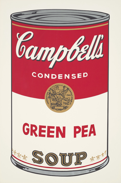 Andy Warhol, 'Green Pea, from Campbell's Soup I', 1968, Print, Screenprint in colours, on wove paper, with full margins., Phillips