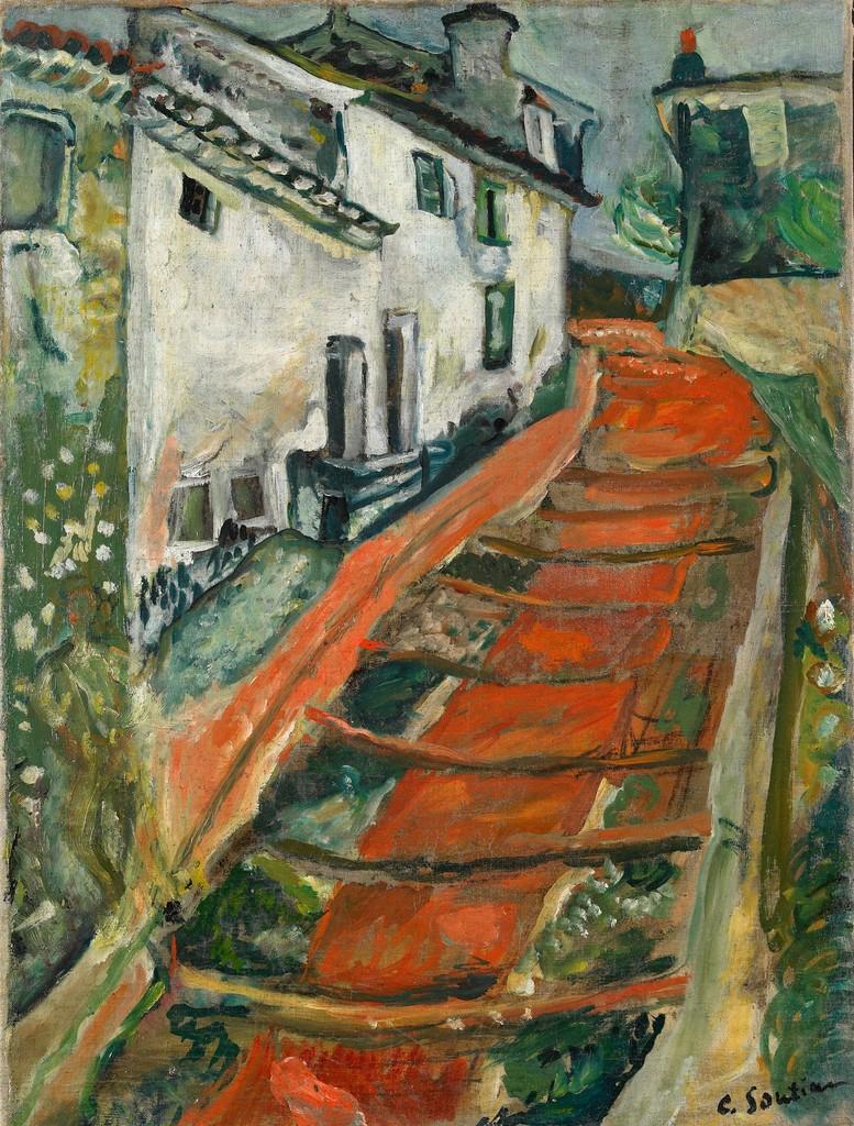 Chaïm Soutine. L'Escalier rouge à Cagnes