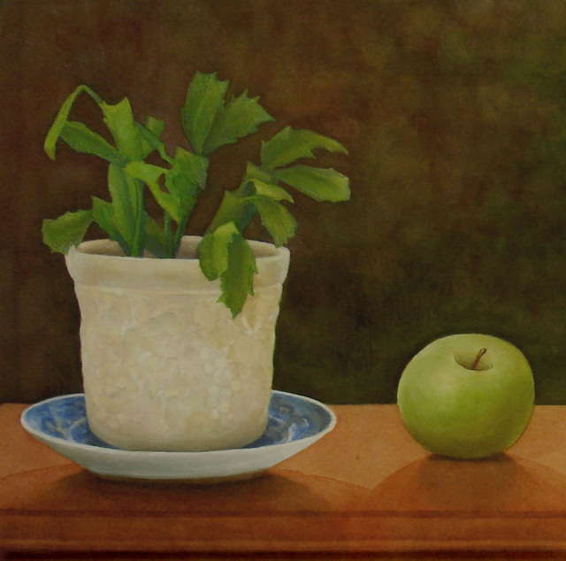 , 'Christmas Cactus with Green Apple,' 2015, InLiquid