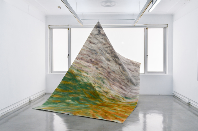 Raul Walch, 'Don't Let The Sunshine Fool You ', 2021, Mixed Media, Non-woven fabric, earth pigments, acrylic, Aki Gallery