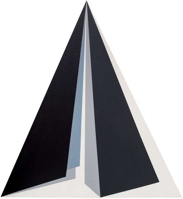, 'Triangulo preto cinza azul,' 1987, GALERÍA JOSÉ DE LA MANO