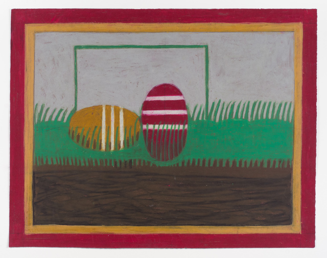 eddie arning, 'Untitled (Croquet Balls)', Drawing, Collage or other Work on Paper, Cray-pas, Fleisher/Ollman