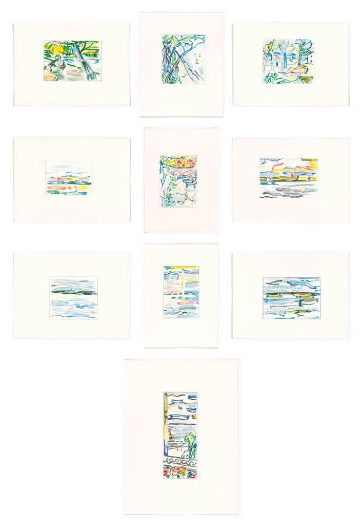 Roy Lichtenstein, 'Landscape Sketches', 1986, Koller Auctions
