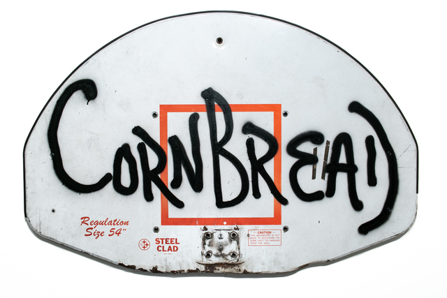 Cornbread, 'Backboard', 2019, Painting, Spray paint on basketball backboard, Paradigm Gallery + Studio