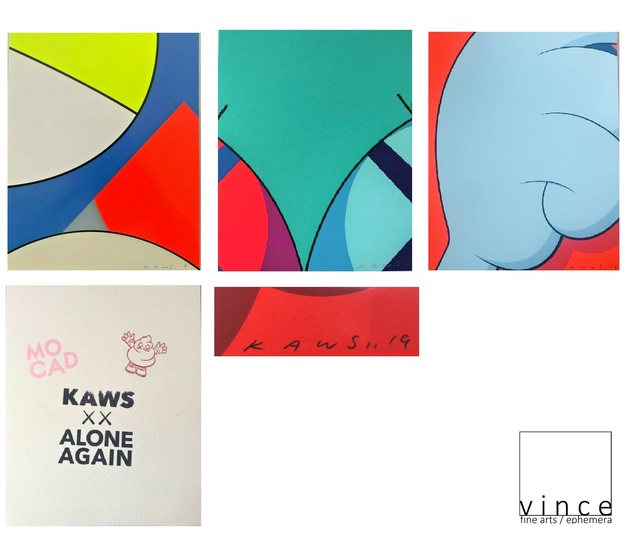"KAWS, 'Set of 4, ""Alone Again"", 2019, Signed/Dated Editions for The Museum of Contemporary Art Detroit Exhibition May 8-2019.', 2019, VINCE fine arts/ephemera"