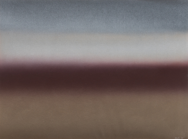 , '1975 (raw umber, phthalo blue, yellow umber),' 1975, Bentley Gallery