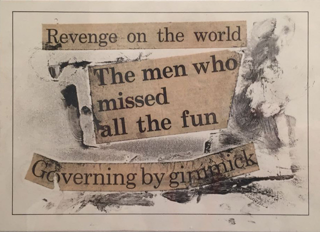 , 'Revenge on the World (Chile 1973, un micropoema hecho en el mismo ano) part of a triptych,' 1973-2011, Baró Galeria