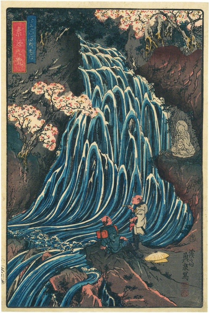 Keisai Eisen, 'Somen Waterfall,' ca. 1845, Egenolf Gallery Japanese Prints & Drawing