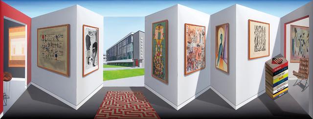 Patrick Hughes, 'Moving Baunhaus', 2014, Galerie Boisseree