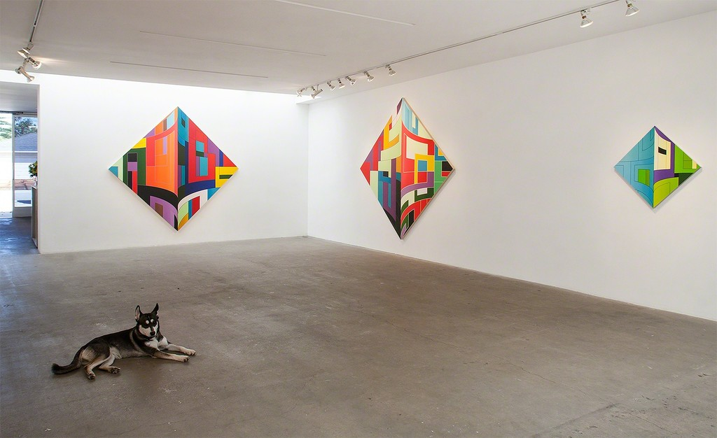 "Thomas Burke 2015 Exhibition Installation ""Dutch Jailbreak- New Paintings"""