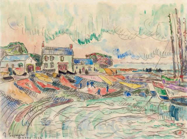 Paul Signac, 'Ile de Groix, le nettoyage des voiles', 1923, Stoppenbach & Delestre