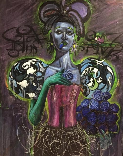 Patrick Boussignac, 'Mangeuse de roses bleues', 2012, B Lounge Art
