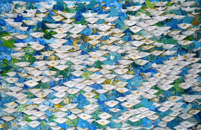 Anna Tsalagka, '(SP) Origami boats', 2019, ARTION GALLERIES