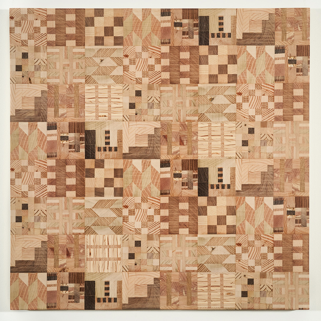 , 'Untitled (Wooden Kente Quilt 10),' 2018, Lisa Sette Gallery