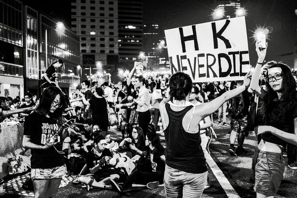 Xyza Bacani Occupy HK 05, 2014 Digital Photography, Black and White 16h x  20w in