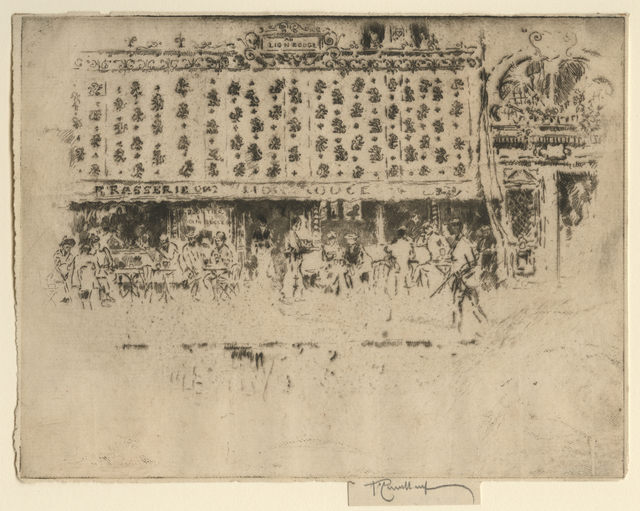 Joseph Pennell, 'Brasserie, Au Lion Rouge', 1893, Childs Gallery