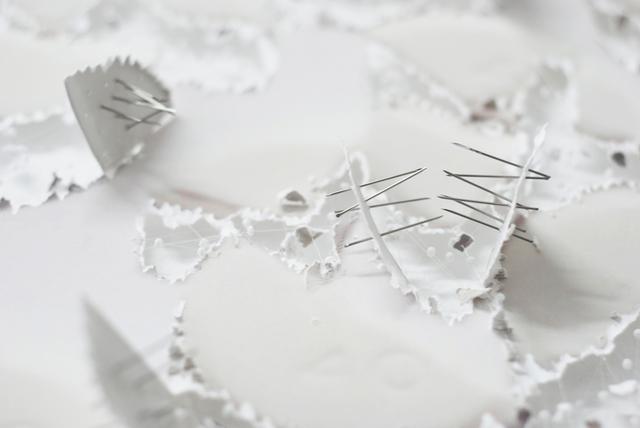 , 'La note (detail),' 2013, Galerie Dominique Fiat