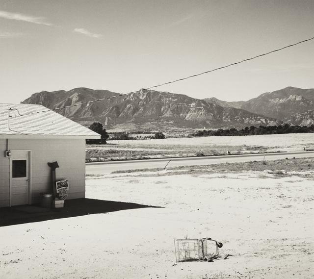 Robert Adams (b.1937), 'Tract home and abandoned shopping cart. Colorado Springs, Colorado', 1968-1971, Photography, Gelatin silver print., Phillips