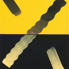 , 'Untitled (Strokes in Black and Yellow),' 2013, Roberts & Tilton