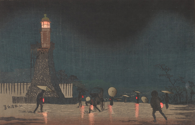 , 'Kudanzaka at Night in Early Summer,' Meiji era-1880, Smithsonian Freer and Sackler Galleries