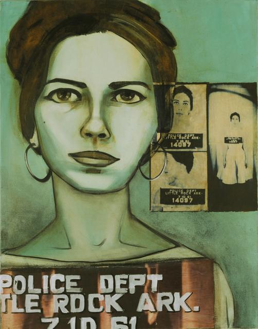 Charlotta Janssen, ' Janet Braun Reinitz (portrait) 22 yrs, from Brooklyn, NY Arrested 7/10/1961 Little RockArkansas', 2011, Hudson Milliner Art Salon