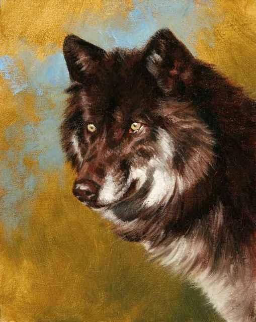 , 'Black Wolf Portrait,' , Sorrel Sky Gallery