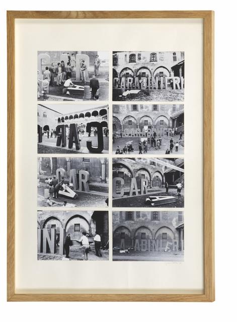 , 'Carabinieri_composition,' 1968, Galleria Giovanni Bonelli