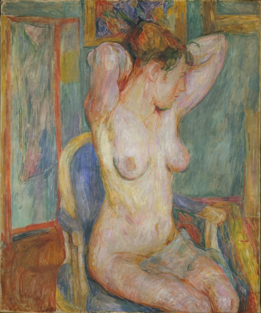, 'Weiblicher Akt auf blauem Sessel ,' 1918, Henze & Ketterer
