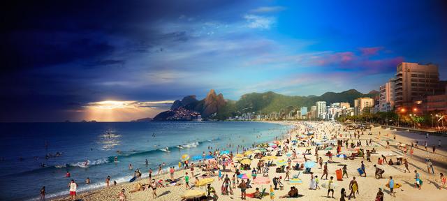 , 'Ipanema Beach, Rio de Janeiro, Day to Night,' 2017, Bryce Wolkowitz Gallery