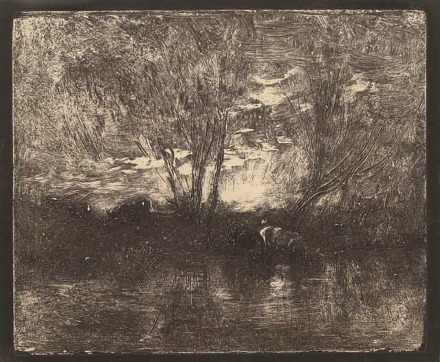 Charles François Daubigny, 'Cow by the Watering-Place', 1862, Clark Art Institute