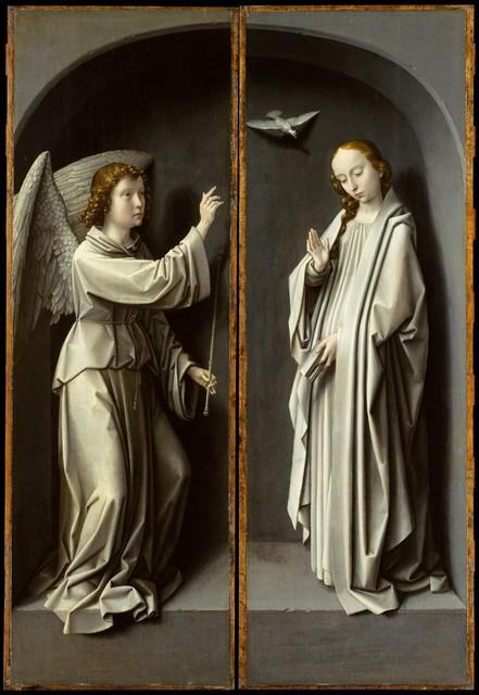 Gerard David, 'Archangel Gabriel; The Virgin Annunciate', ca. 1510, The Metropolitan Museum of Art