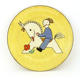 A Clarice Cliff child's plate
