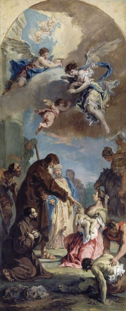Sebastiano Ricci, 'A Miracle of Saint Francis of Paola', 1733, Painting, Oil on canvas, National Gallery of Art, Washington, D.C.