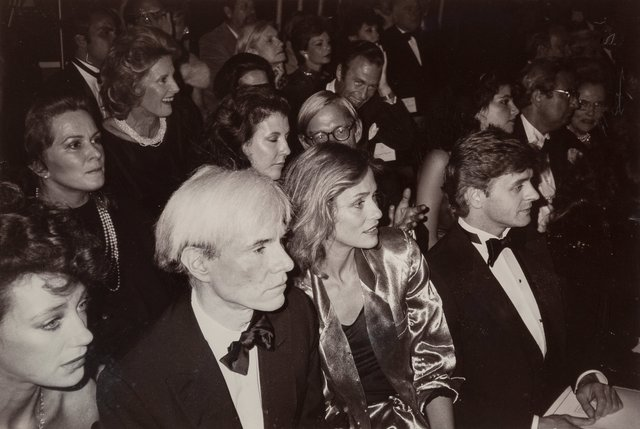 Christopher Makos, 'Fame (Marisa Beresnson, Andy Warhol, Laren Hutton, Mikhail Baryshinkov) at a Fashion Show in New York City, October 4', 1982, Heritage Auctions