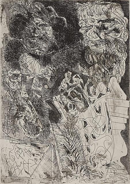 Pablo Picasso, 'Rembrandt à la palette from La Suite Vollard', 1934, Print, Etching, Rago/Wright