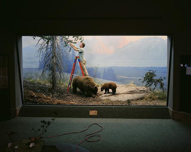 Richard Barnes, 'Mountain Scene with Man and Bears', 2005, Bau-Xi Gallery