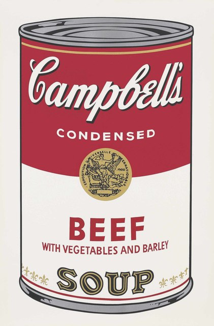 Andy Warhol, 'Beef with Vegetables and Barley, from: Campbell's Soup I', 1968, Christie's