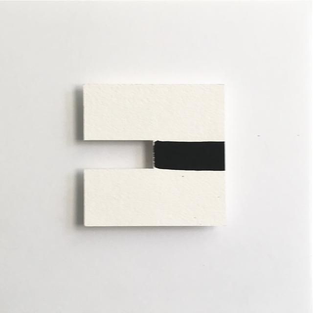, '0226 –  3D Drawings (void black line),' 2018, Galeria Karla Osorio