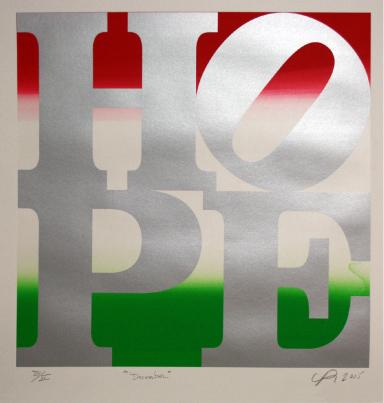 Robert Indiana, 'HOPE', December 2015, Oblong Contemporary