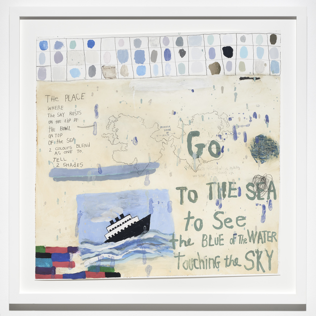 Squeak Carnwath, 'Go to the Sea                                                                                                                         ', 2018, Jane Lombard Gallery