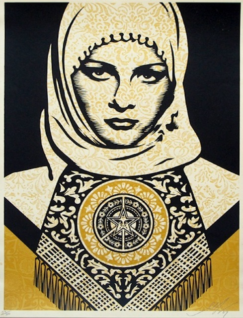 Shepard Fairey, 'Arab Woman (Gold)', 2008, Gregg Shienbaum Fine Art
