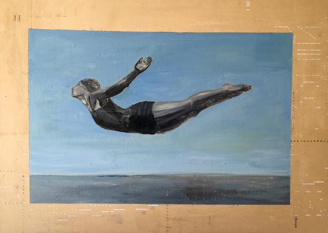 , 'Diving Figure #6,' 2017, Sue Greenwood Fine Art